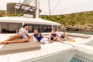 Catamaran Charter BVI FAQ catamaran people on board